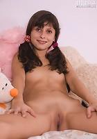 Pretty teen posing