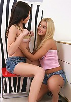 Inna and Ivanka - Teen cuties finger fuck bald quims