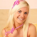 Horny teen pulls down her pink panties