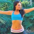Harper nude yoga topless jog
