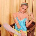 Nubiles.net Noleta - Blonde Nubile Noleta fingers her delicate shaved pussy