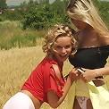 2 Hot Czech girls making out in a field