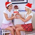 Irie and Era - Busty cuties in Santa hats dildo