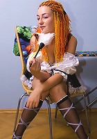 Dick-harding redhead teen sexy in maid uniform